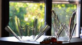 Acrylglas Schalen & Vasen 2-Teile-Set-02 mittel rund  in klar