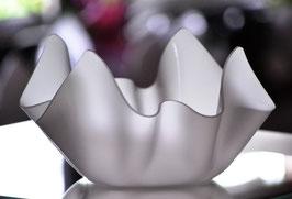 Acrylglas Schale klein in Satin (Milchglas)