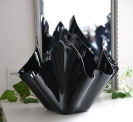Acrylglas Schale groß rund in Porzellan schwarz