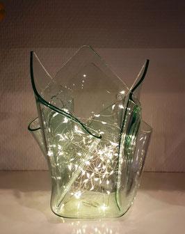Acrylglas Vase mittel in Verde
