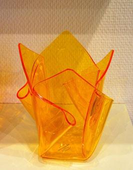 Acrylglas Vase mittel in gelb