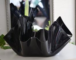 Acrylglas Schale groß flach in Porzellan schwarz