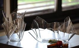 Acrylglas Schalen & Vasen 2-Teile Set-02 mittel oval - klar
