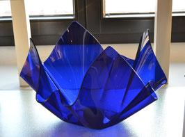 Acrylglas Schale groß rund in blau