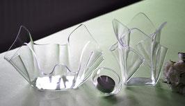 Acrylglas Schalen und Vasen 3 -Teile Set-01 klein  klar