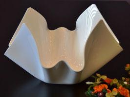 Acrylglas Schale mittel rund in Porzellan weiß