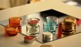 Glas Windlicht  für Teelichter
