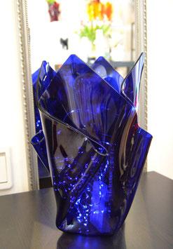 Acrylglas Vase groß in blau