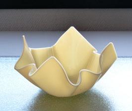 Acrylglas Schale klein in creme