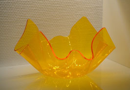 Acrylglas Schale mittel rund in gelb