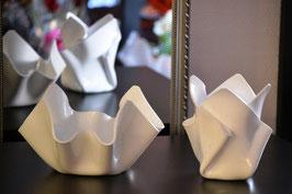 Schalen & Vase Set-01 in Porzellan weiß