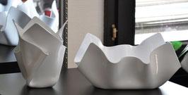 Acrylglas Schalen & Vasen Set-02 mittel oval Porzellan weiß