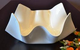 Acrylglas Schale mittel oval in Porzellan weiß