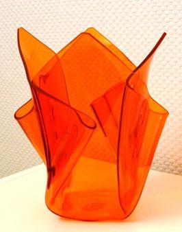 Acrylglas Vase mittel in orange