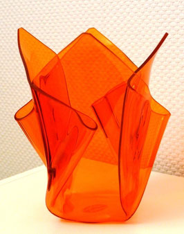 Acrylglas Vase mittel in orange