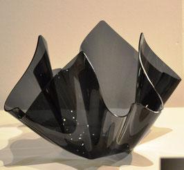 Acrylglas Schale groß rund in grau