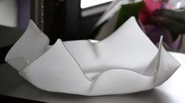 Acrylglas Schale mittel flach in Satin (Milchglas)