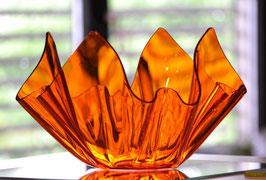 Acrylglas Schale mittel rund in orange