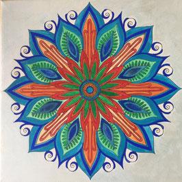 Mandala auf Keilrahmen