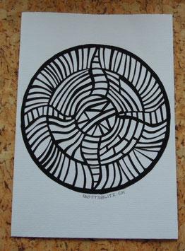 Scherenschnitt-Karte «Sonnentanz»