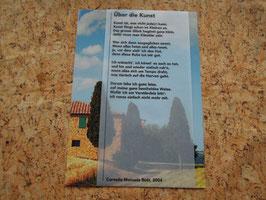 Karte mit Gedicht: «Über die Kunst»