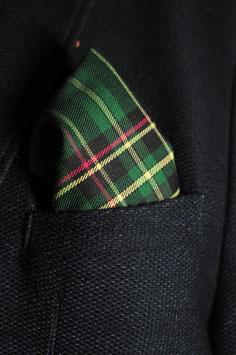 Tuch - schottischer Style (rot-hell grün-gelb)
