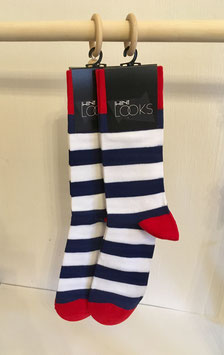 Gestreifte Socken - blau weiß