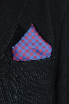 Tuch - blau/rot karriert