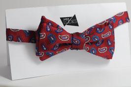 Selbstbinder - rot mit kleinem Paisley Muster