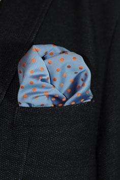 Tuch - hell blau/organge (tragbar auf beiden Seiten)