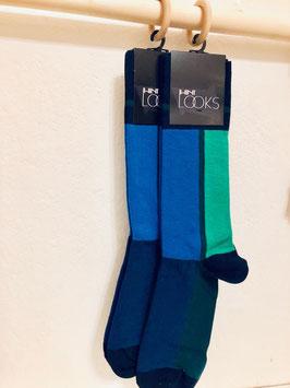 Dunken und hell blau&grün
