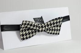 Fliege - schwarz&weiß hahnentritt Muster