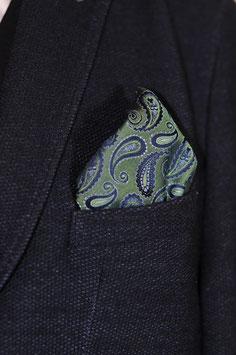 Tuch - blau/grün Paisley