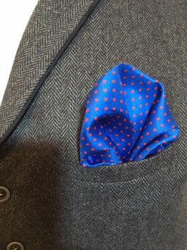 Tuch - blau mit kleinen roten Punkten