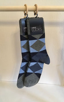 Socken - blau, grau