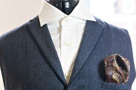 Tuch - dunkel blau mit einem buntem Muster