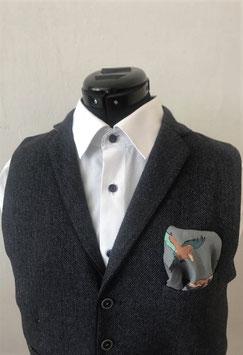 Tuch - Vogel in grau