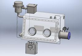 Glovebox-Unterdruckhaltung mit Filterüberwachung