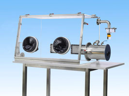 SylaTech PMMA-Glovebox Front with quick release system