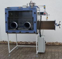 Glovebox zum hantieren von sauerstoffempfindlichen Pulvern