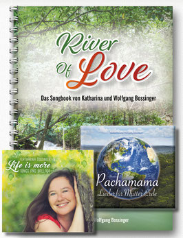 "Pachamama-CD + ""Life is more""-CD + Liederbuch ""River of Love"" (enthält die Noten aller Stücke der CDs ""Pachamama"" und ""Life is more"")"