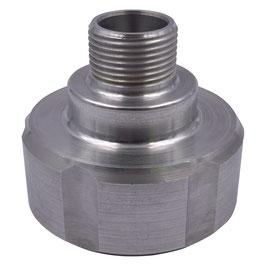 """Adapter für IBC S60x6 auf 3/4"""" AG Aluminium"""