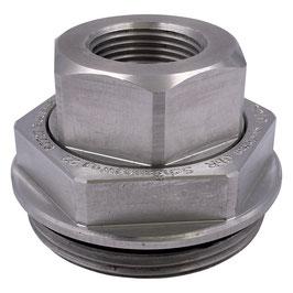 "Drehverschraubung 2"" auf 3/4"" IG Aluminium"