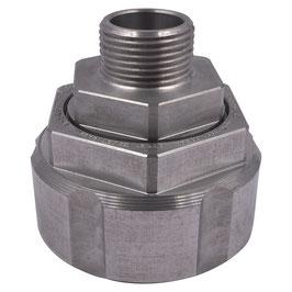 """Drehverschraubung S60x6 auf 3/4"""" AG Aluminium"""