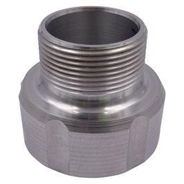 """Adapter für IBC S60x6 auf 1 1/2"""" AG Aluminium"""