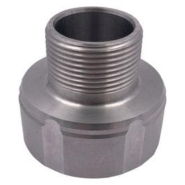 """Adapter für IBC S60x6 auf 1 1/4"""" AG Aluminium"""