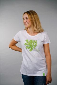 T-Shirt Damen weiß   Löwe