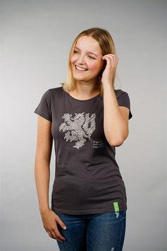 T-Shirt Damen anthrazit   Löwe