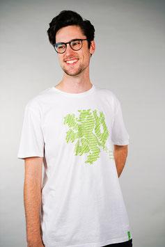 T-Shirt Herren weiß   Löwe