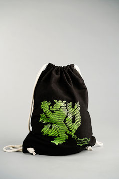 UNI Baumwollrucksack   schwarz